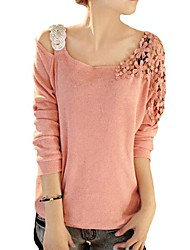 Women's Lace Shoulder Pullover Sweater