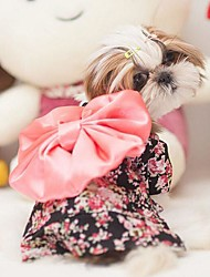 Dog Dress Black Spring/Fall Bowknot Wedding / Cosplay