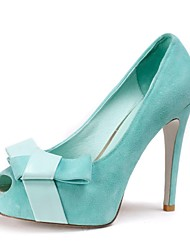 Women's Shoes Peep Toe Stiletto Heel Pumps with Bowknot Shoes More Colors available