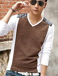 Men's Long Sleeve T-Shirt , Cotton Pure