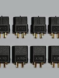preto conectores XT60 macho e fêmea 5 pares / saco