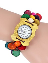 Women's  Apple-Shaped Wooden Printing Bracelet Watch(1Pc) Cool Watches Unique Watches