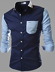 Men's Shirt, Casual/Work Pure Long Sleeve