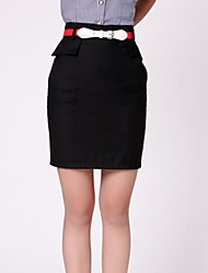 Women's Wild OL Solid Color Skirt(with Belt)