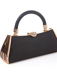 Women Bags All Seasons Other Leather Type Evening Bag with for Event/Party Black Fuchsia Red