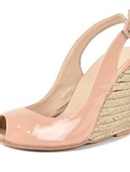 bc Damen Wedge Nackt Pumps Peep Toe Sandalen Schuhe