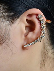Stone Set Flower Ear Cuff