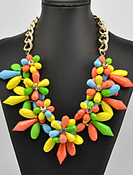 Eternity Women's Multi Color Crystal Flower Pattern Necklace