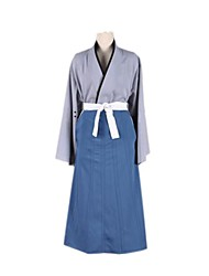 Inspired by Detective Conan Cosplay Anime Cosplay Costumes Cosplay Suits Patchwork Blue Kimono Coat / Skirt / Belt