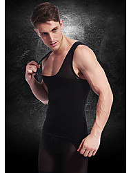 hommes minceur corps de sous-vêtements shaper gilet taille manteau chemise entreprise ventre ventre poitrine nylon noir ny027