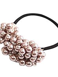 Fashion Handmade Beaded Pearl Hair Ties Random Color