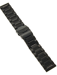 22mm High Quality Black/Gold Precise Stainless Steel Watchband Cool Watch Unique Watch Fashion Watch