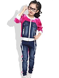 Girl's Winter Denim Sports Clothing Sets(More Colors)