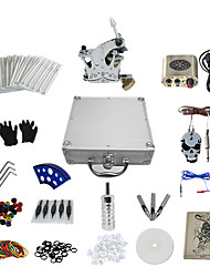 1 Gun Complete No Ink Tattoo Kit with Crown Style Secant Machine and Golden Engraved  Power Supply
