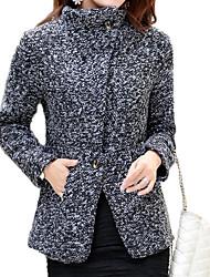 abrigo de tweed vaina de las mujeres