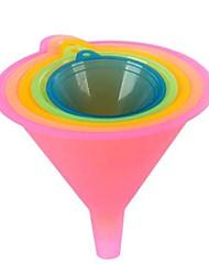 colori caramella imbuto di plastica (5pcs colore casuale)