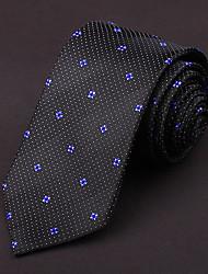 Black&Purple&White Silk Tie