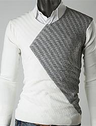 tração dos homens casual sobre blusa