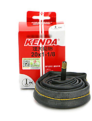 KENDA 20*1-1/8 Rubber Bike Black AV Foldable Tube