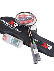 ferro joerex® liga raquete de badminton set (2 raquetes + 3 petecas)