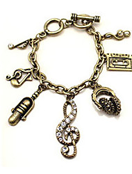 H&D Women's Vintage Music Note Elegant Bracelets