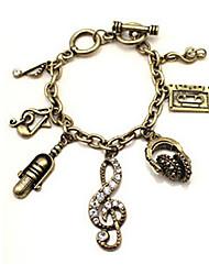 h&millésime notes de musique bracelets élégants de femmes d