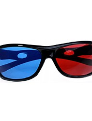 General Red Blue Left and Right Sides Split Screen 3D Glasses for Computer