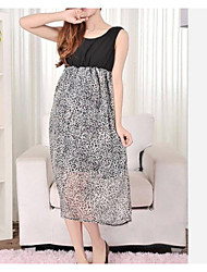 Maternity's Fashion Plus Size Chiffon Elegant Design One-piece Dress