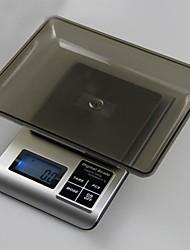 кухня пищевые цифровые весы на счетах в трее 3000 г / 0,1 г, пластиковые 18x16x3cm