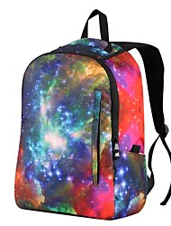 Unisex's Fashion Simple Stars Printed Backpack