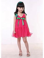 malha vestido de verão para crianças DHX