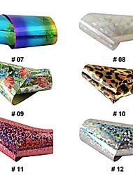 1шт лазерного фольга для ногтей украшения звездные наклейки № 7-12 (120x4x0.1cm, разные цвета)