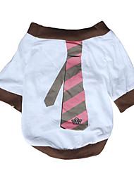 Dog Shirt / T-Shirt / Clothes/Clothing White Spring/Fall Animal