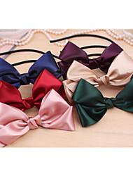 Double Ribbon Bow Hair Hoop Headband Hair Bands Random Delivery