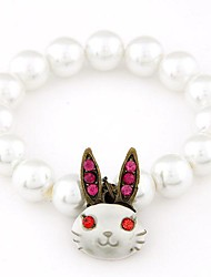 Fashion Auspicious Rabbit Pearl Bracelet