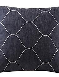 черный связано плитка хлопок / лен декоративная наволочка