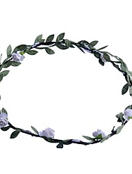 Lureme®White Sweetheart Green Leaf Headband