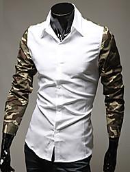 z & s Herrenhemd Kragen Blumendruck Langarm-Shirt