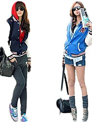 Fashion Baseball Uniform Jacket Stand Collar Thicken Leisure Sweatshirt Outerwear