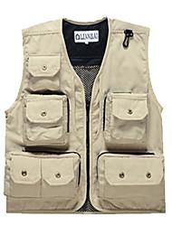 Leyou Sunmer Muti-porket Gridding Waistcoat Vest for Outdoor Photographer Director [XXL]