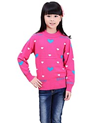 Girl's O-Collar Lolita Style I Love You Patten Long Sleeve Hand Knitted Thicken Sweaters