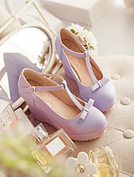 Damen Wedge Heel T-Strap Pumps Schuhe (weitere Farben)