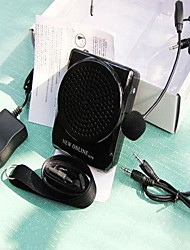 15w pa altifalante 3,5 milímetros com microfone amplificador de voz reforço megafone portátil para alto-falante / ensino / guia de turismo