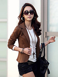 Women's Blazers & Sport Coats , Cotton Blend Casual Vvic
