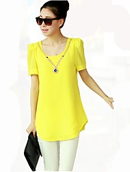 Short Sleeve Leisure Long Shirt