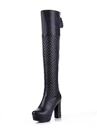 Women's Shoes Fashion Chunky Heel Over The Knee Boots with Split Joint Lace-up More Colors available