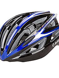 INBIKE unisex 21 respiraderos pc azul y blanco y negro + eps moldeadas integralmente-casco de bicicleta (54-62cm)
