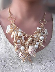 Women's Fashion  Pearl Shell   Necklace