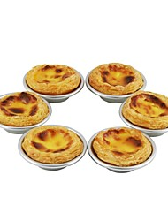 Hong yuan® Aluminum Alloy Anode Egg Tart Mould 6 Pack