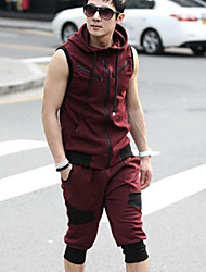 Men's Plus Size Casual Sports Suit,Sleeveless